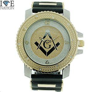 Other - MICRO PAVED ICEDOUT   GOLD LAYERED WATCH